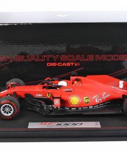 Modellino F1 BBR Models 118 Ferrari SF1000 2020 Sebastian Vettel Austrian GP Special Box Limited Ed. lato