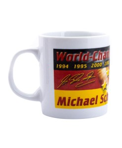 Tazza Michael Schumacher ceramica 2