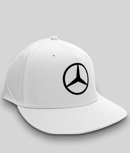 Hamilton Driver Visiera Piatta Bianco 3 4