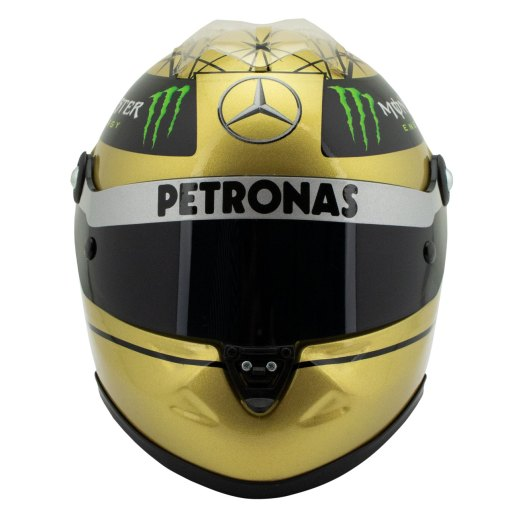 12 Michael Schumacher Spa 2011 gold helmet