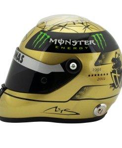 12 Michael Schumacher Spa 2011 gold helmet 2