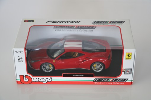 Bburago 118 Ferrari 488 GTB 70th anniversary Collection