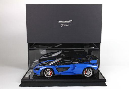 bbr 118 McLaren Senna Azura Blu vetrina