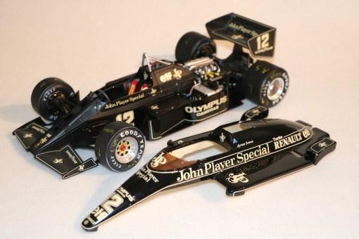 Modellino artigianale 112 F1 Lotus 97T 1985 Ayrton Senna N.12 15