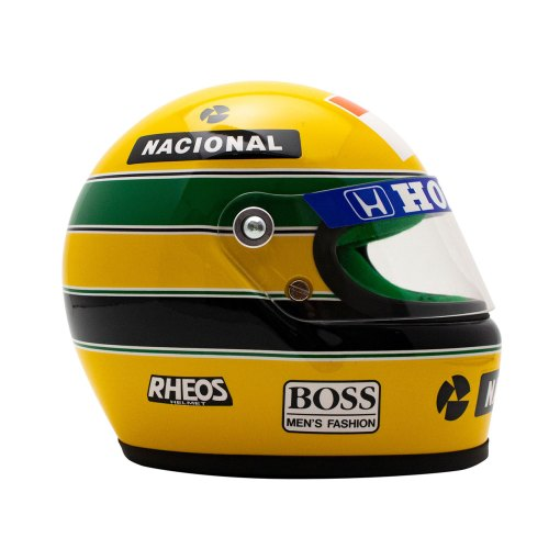 Mini Helmet Ayrton Senna Formula Uno 1990 scala 12 3