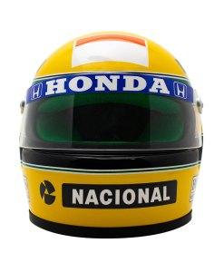 Mini Helmet Ayrton Senna Formula Uno 1990 scala 12 5