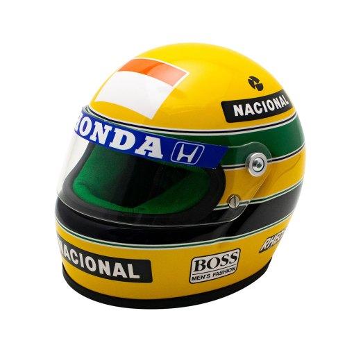 Mini Helmet Ayrton Senna Formula Uno 1990 scala 12