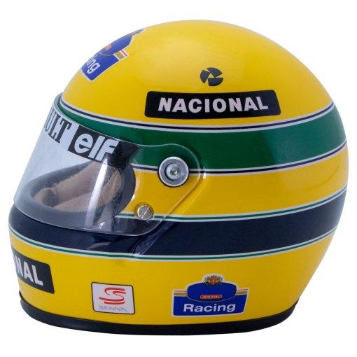 Mini Helmet Ayrton Senna Formula Uno 1994 Williams Renault scala 12 laterale