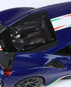 BBR 1 43 Ferrari 488 Pista Piloti Ferrari Blue Tour De France dettaglio