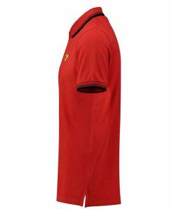 Polo Uomo SF Ferrari Rossa laterale