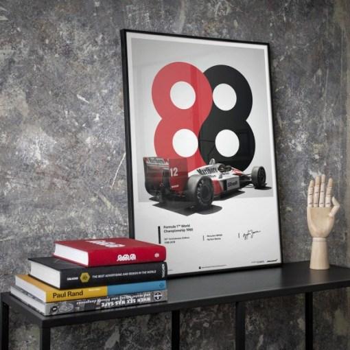 Poster Ayrton Senna McLaren 1988 MP44 50x70cm 5