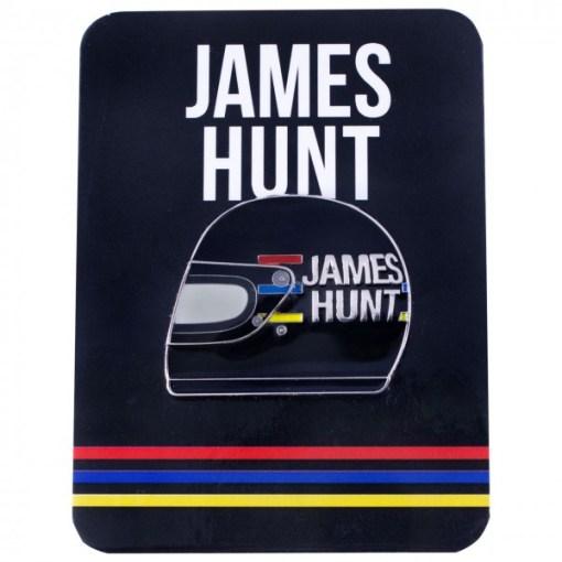 Spilla metallo James Hunt casco 1976 35x30 mm