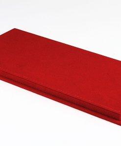 Vetrina Con Base In Alcantara Cucitura Rossa 4 Pcs Box base