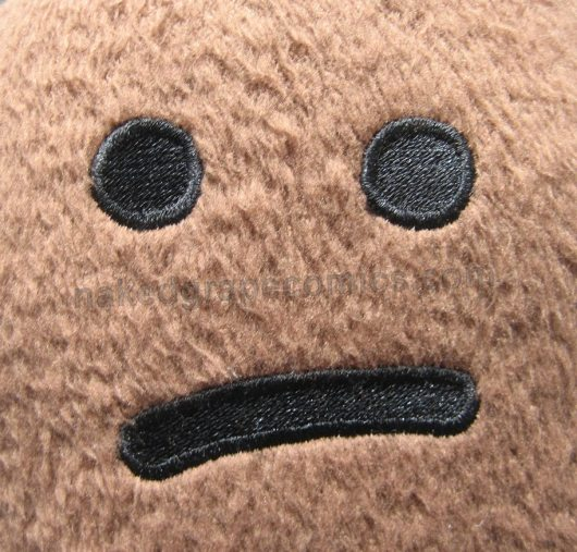 Poop Office Plush Doll Face Close-up