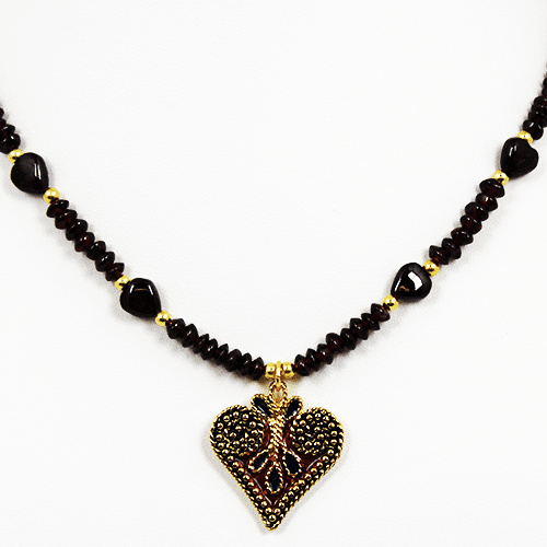 Heart Charm Collection in Red by KJK Jewelry