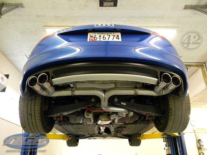 42 draft designs mk2 audi tts 3 catback exhaust system
