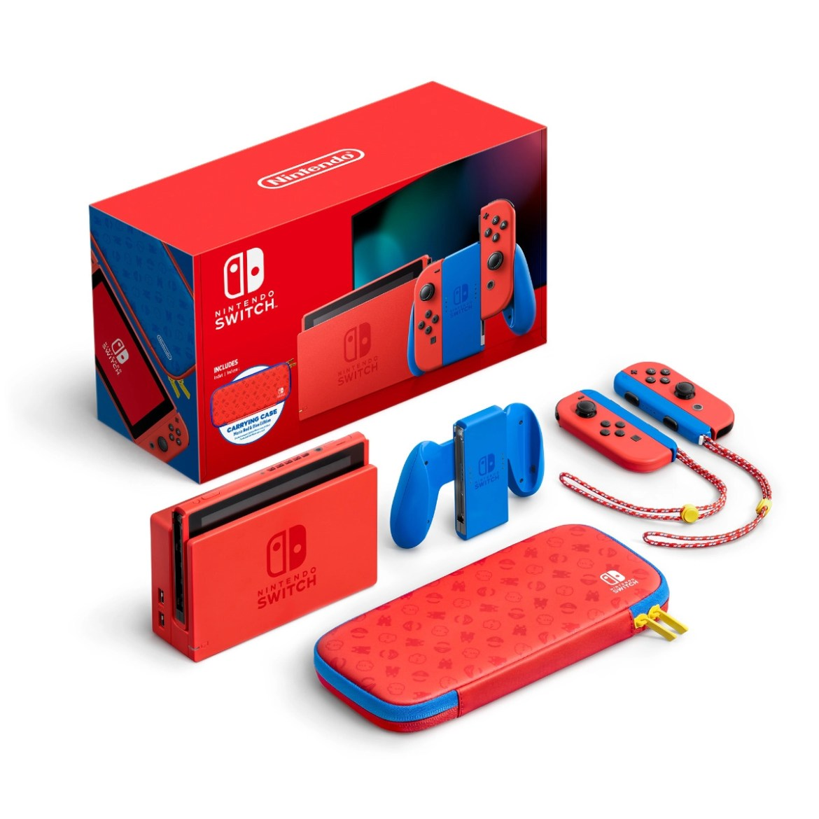 Nintendo Switch – Mario Red & Blue Edition all items