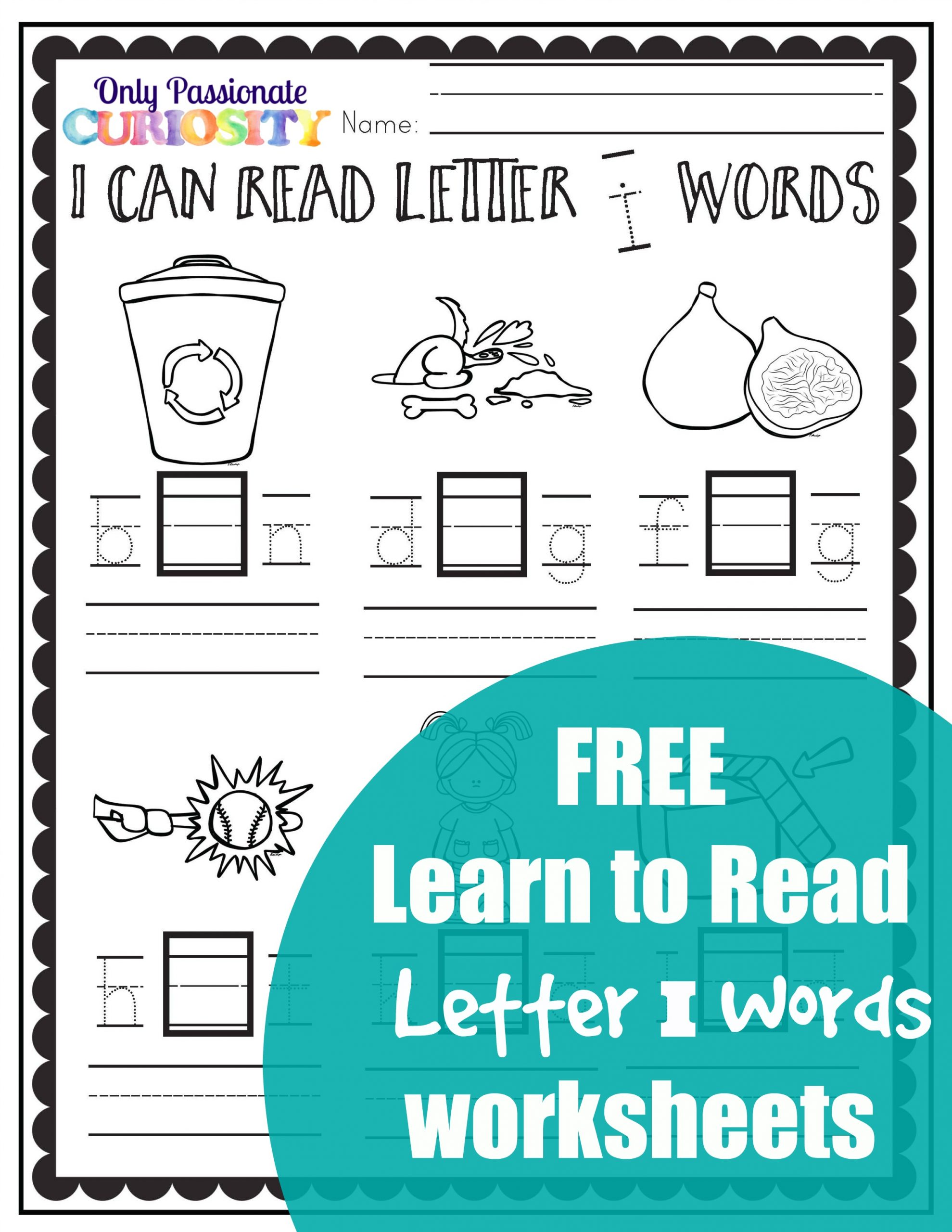 Cvc Worksheets Middle I Words