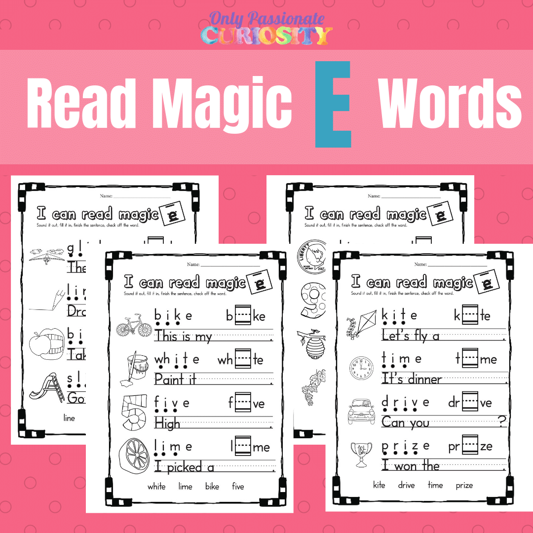 Magic E Worksheets