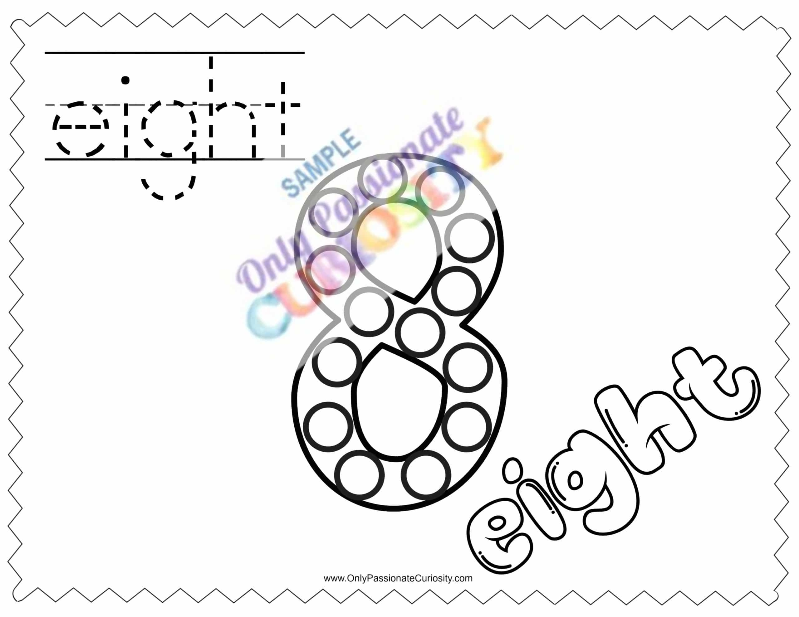 Dab Dot Marker Worksheet