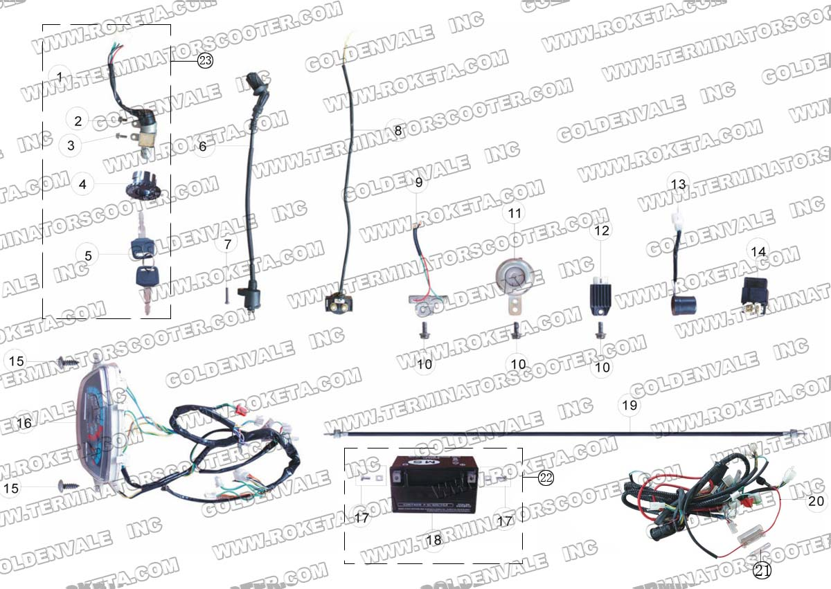 Tk150t H Scooter Wiring Diagram