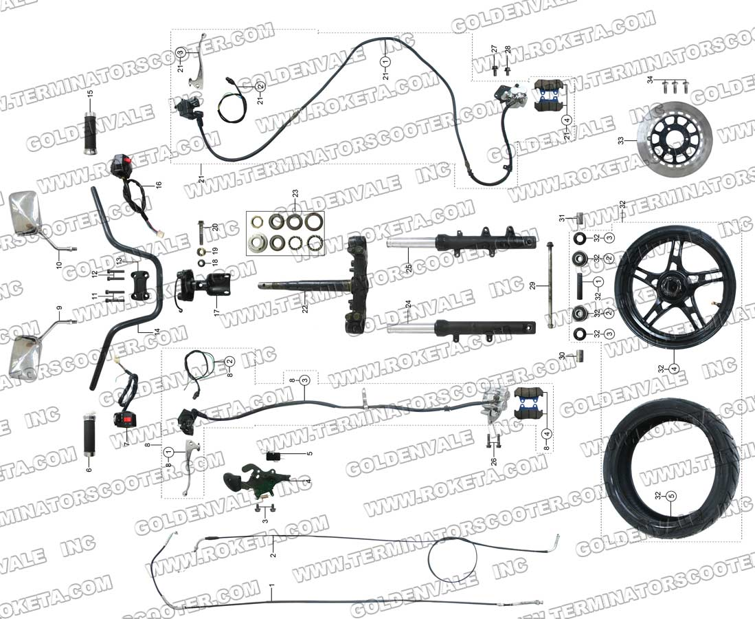 150cc regulator wiring diagram