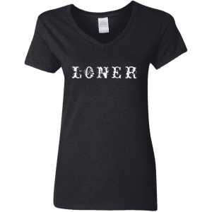 Loner Ladies' 5.3 oz. V-Neck T-Shirt