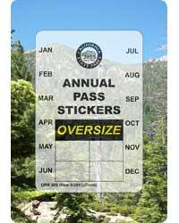 OVERSIZED VEHICLE Pass Sticker