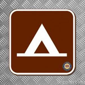 Camp Sign Square Magnet 2