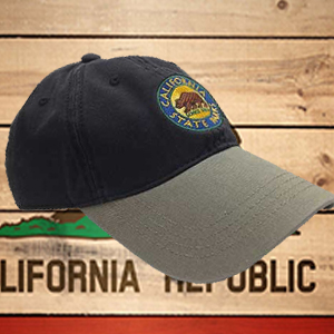 California State Parks Embroidered Baseball Hat, Navy/Stone 2