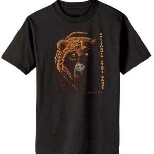 100% Organic Grizzly T-shirt Black-0