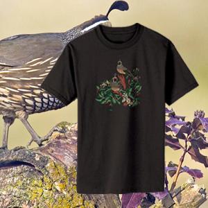 100% Organic Quail T-shirt Black-0