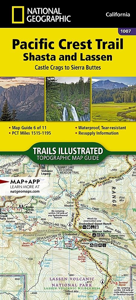 Nat Geo PCT, Lassen and Shasta, Map 6 of 11 (