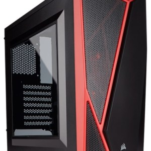 caja  atx semitorre corsair carbide spec-04 negra-roja  cc-9011107-ww