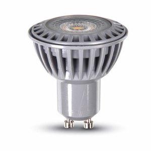 bombilla led gu10 v-tac 6w>>50w luz fria 450lm regulable dim 110grs  l1644