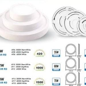 panel led superficie slim v-tac redondo 190*24mm luz natural18w>>75w 1440lm l4917