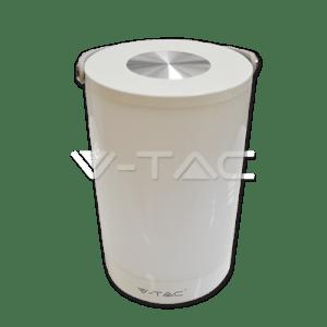 lampara mesa led v-tac 6w luz natural 230lm portatil blanco usb carga l7050