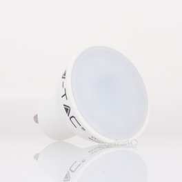 bombilla led gu10 v-tac 5w>>40w  luz fria 320lm pack3 wide  unidds l7271