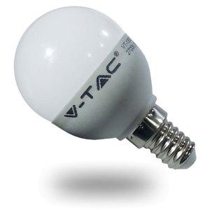 bombilla led e14 p45 v-tac 6w>>40w luz fria 470lm golfball l4252uc