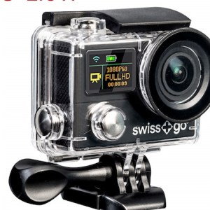 camara video  swiss-go deportiva sg-2.0w 4k full hd + accesorios negra