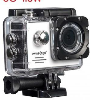 camara video  deportiva swiss-go sg-1.8w full hd wifi + accesorios roja