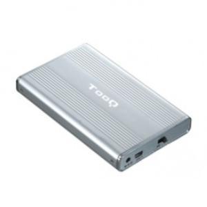 caja externa 2.5 tooq 95 mm ide-sata usb 2.0 plata tooq tqe-2512