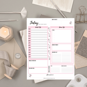 daily planner printable for working moms