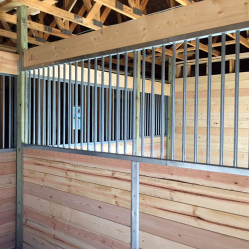 Oxford Horse Stall Grilled Partition Ramm Horse Fencing