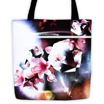 Abstract Flowers – tote bag