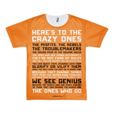 Heres to the Crazy Ones – short sleeve all over t-shirt (unisex)