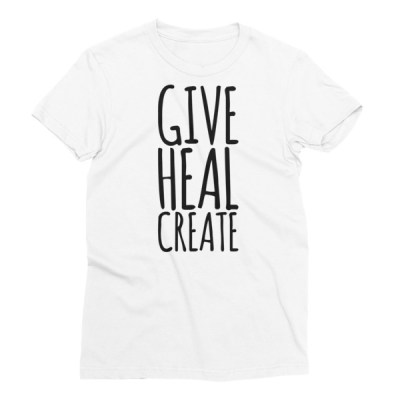 Give, Heal, Create – Women's Short Sleeve T-Shirt