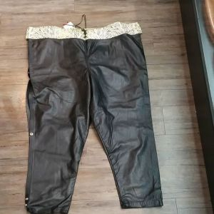 CUSTOM Leather Snap Off PANTS 18176 ( Size 50 )