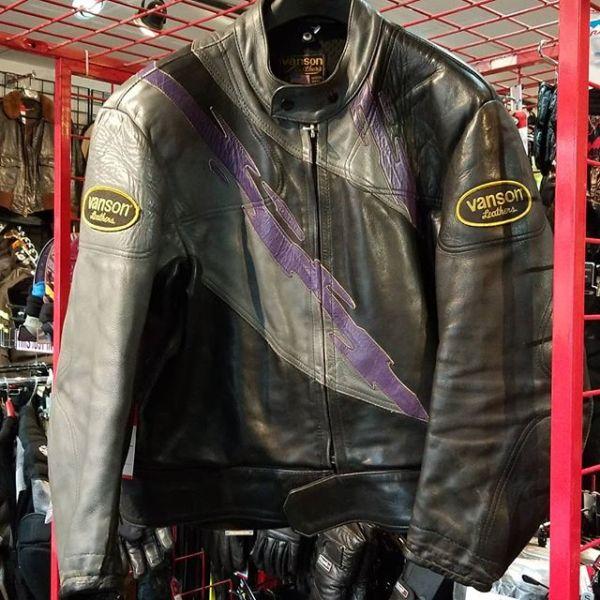 VANSON Leather Vintage Racing JACKET 18972 ( Size 48 )