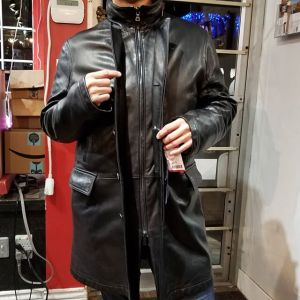 PRADA Leather Trench JACKET 19263 ( Size Men's L )